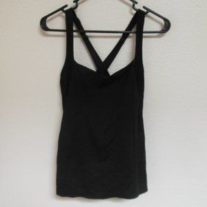 Black Lorna Jane Support Work Out Top